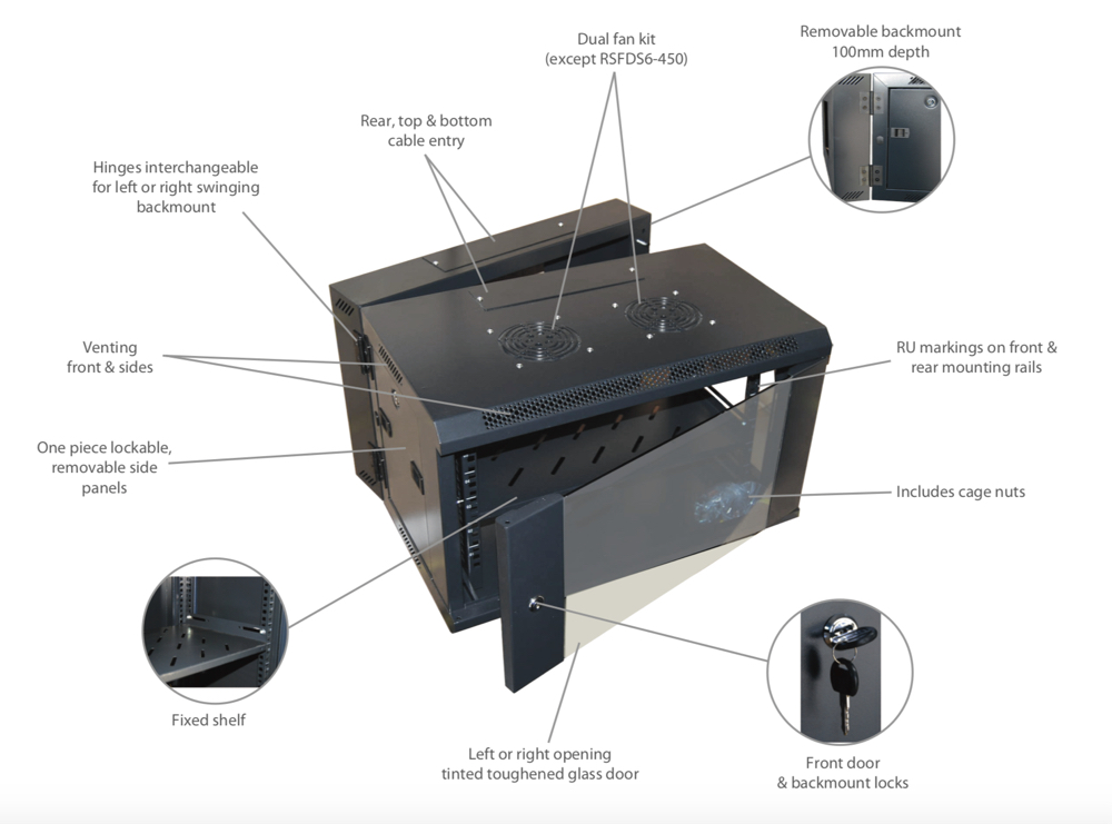 Dynamix Network Cabinet Hinged